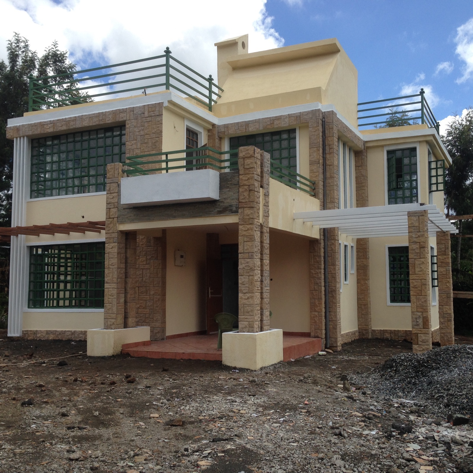 The finished house conte 4 bedroom house plan adroit for House designs in kenya photos