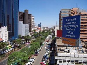 building in Kenya, a nairobi street