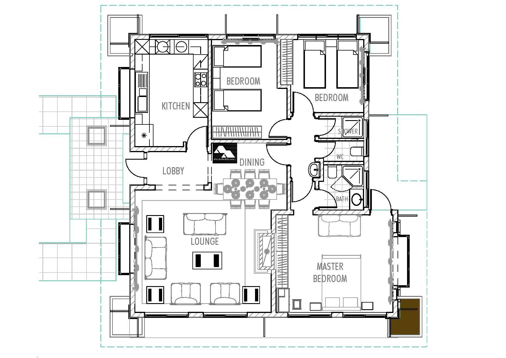 Kenyan Three Bedroom House Plan Com Joy Studio Design