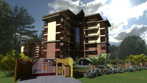 apartment building by adroit architecture, kenyan architect