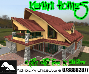 Three bedroom house plans in kenya for Roofing designs in kenya