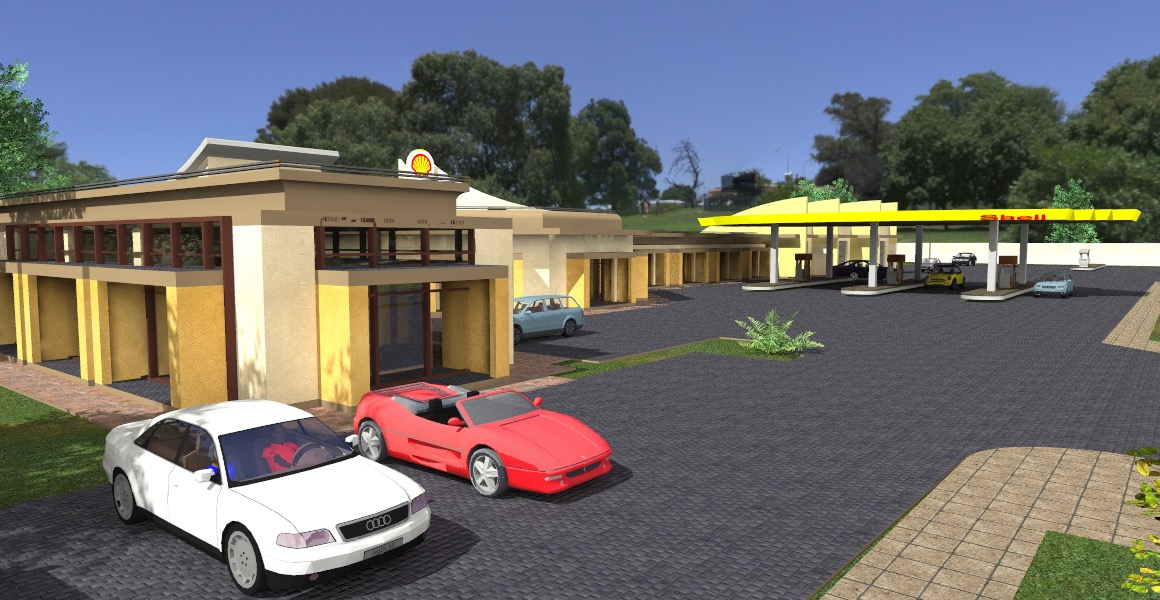 fuel station by kenyan architect