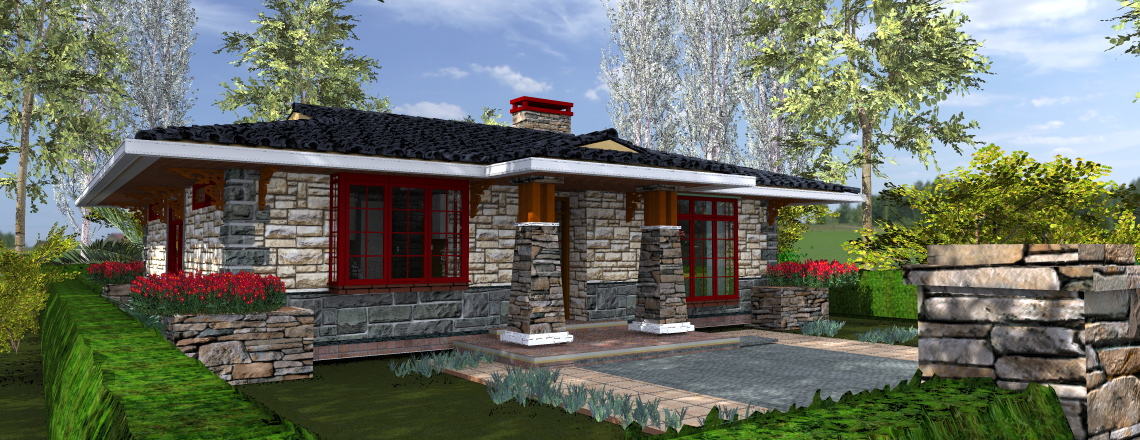 three bedroom house plan by Kenyan architect