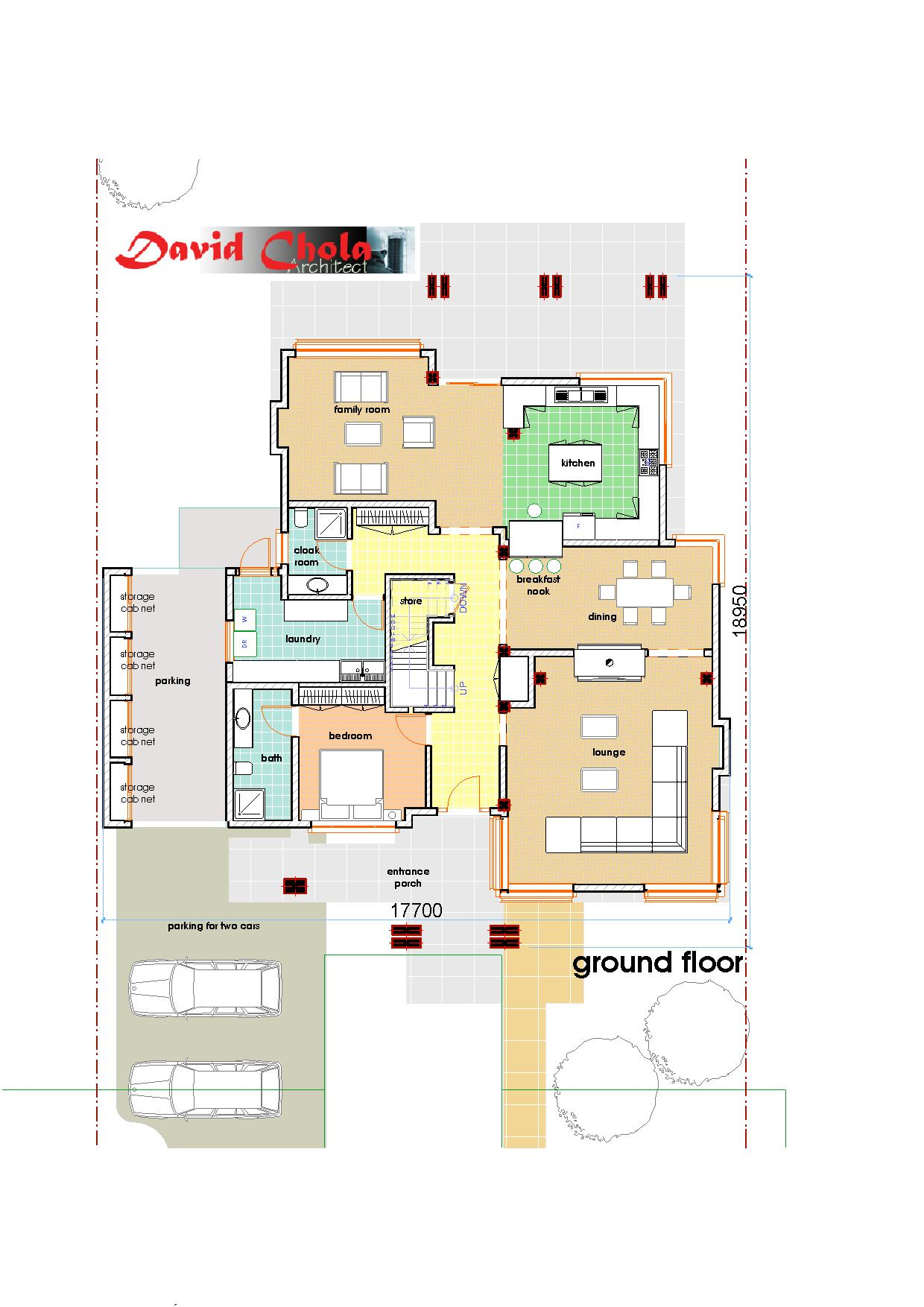 Contemporary house plan 1 adroit architecture for Home plan architect