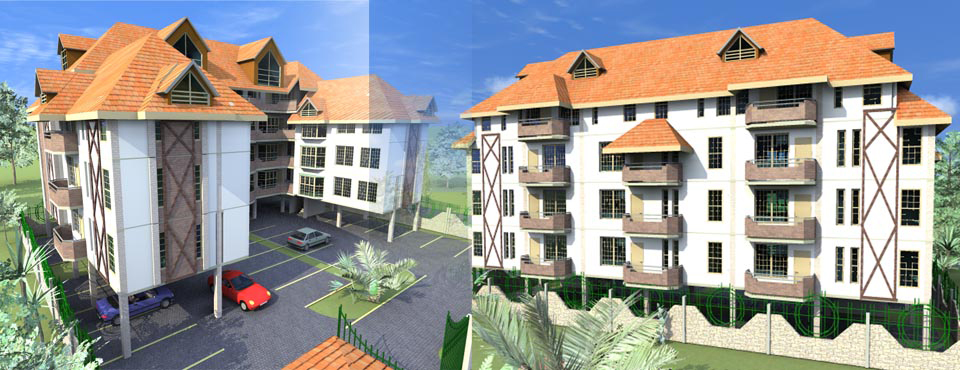 Apartments - AdroitArchitecure, Kenyan Architects