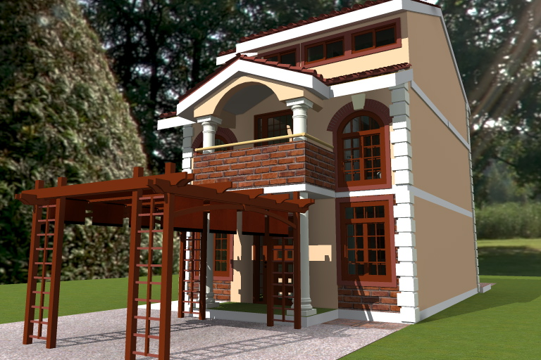 houses for sale in Kenya, narrow lot plan